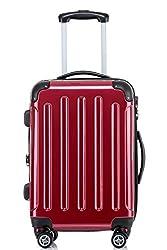 Zwillingsrollen Reisekoffer Koffer Trolley M Hartschale Boardcase Handgepäck 2048 Rot