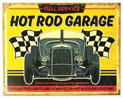 +Urbano Hot Rod Garage Vintage Retro Tin Sign Home Pub Bar Deco Wall Decor Poster Size 8' x 12'