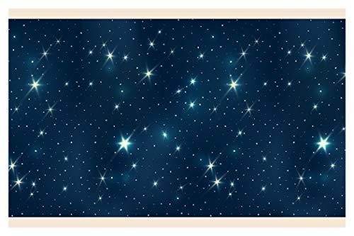 dekodino Kinderzimmer Bordüre Borte Sterne Wanddeko Kinder selbstklebend