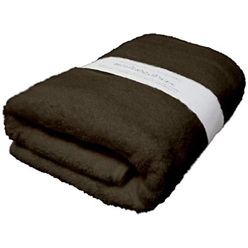 今治タオル バスタオル 「贅沢なめらかタオル」 高級綿スーピマ・コットンを使用し、柔らかくボリュームたっぷり、滑らかな肌触り。 (ダークブラウン)