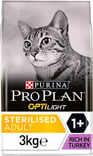 PRO PLAN Light - Riche en Dinde - 3 KG - Croquettes pour chat adulte