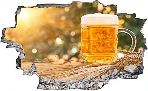 Bierkrug Bier Sonne Wandtattoo Wandsticker Wandaufkleber C1326 Größe 70 cm x 110 cm