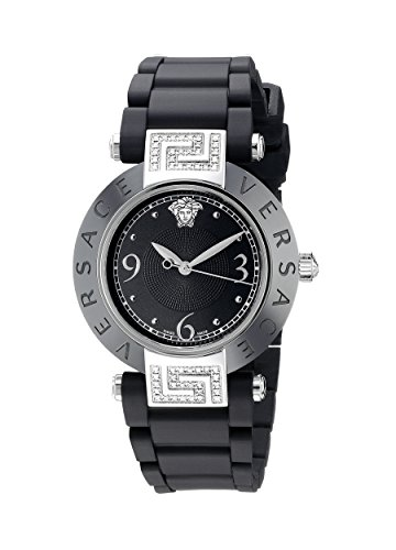 dc91d1f3f Versace Women's 92QCS91D008 S009 Reve Black Ceramic Stainless Steel and  Rubber Watch