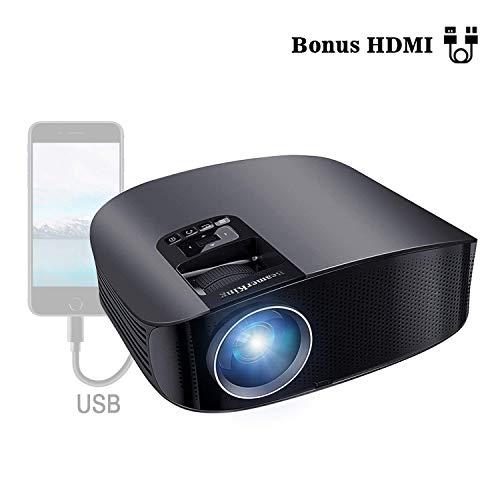 BeamerKing プロジェクター LED ホームプロジェクター 1080P フル HD 3500ルーメン 1920*1080最大解像度 HDMIケーブル付属 WS610 iPhone/パソコン/スマホ/タブレット/ゲーム機接続可 3年保証