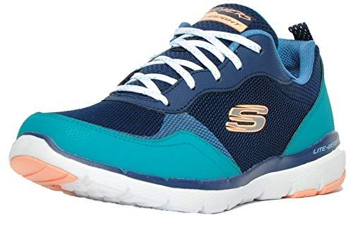 Skechers Flex Appeal 3.0 Memory Foam Mujeres Azul marino, color, talla 37 EU