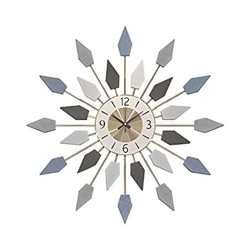 Mocdiy 65cm Wanduhr Vintage, Groß Wanduhr Ohne Tickgeräusche Uhr Lautlos Metall Wanduhr Dekorative für Wohnzimmer, Küche, Büro und Schlafzimmer