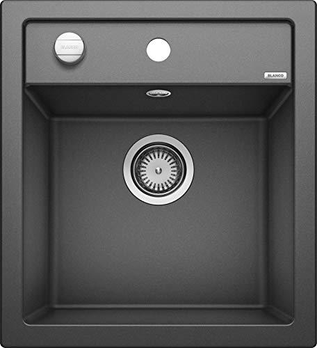 BLANCO DALAGO 45 – Spülbecken in modernem Design für 45 cm breite Unterschränke – aus SILGRANIT in Stein-Haptik – Anthrazit-Grau – 517156