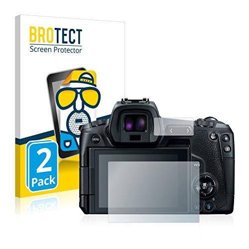 2 Unidades Anti-Huellas BROTECT Protector Pantalla Compatible con Canon EOS 20D Protector Transparente