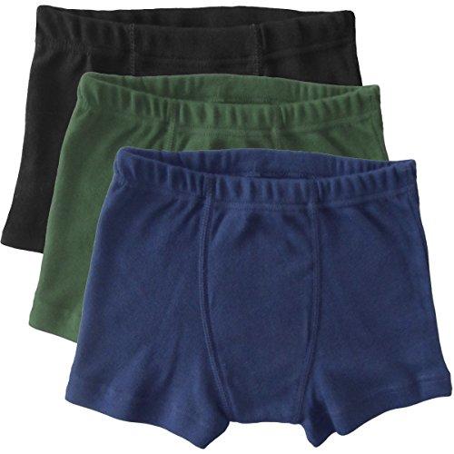 HERMKO 2900 3er Pack Jungen Pants - Reine Bio-Baumwolle, Größe:98, Farbe:Mix s/m/o