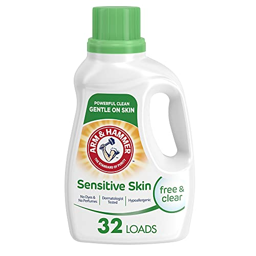 Arm & Hammer Sensitive Skin Free & Clear Liquid Laundry Detergent, 32 loads