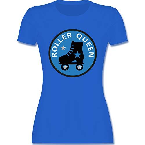 Vintage - Roller Queen Rollschuh - S - Royalblau - Shirt rollschuh Damen - L191 - Tailliertes Tshirt für Damen und Frauen T-Shirt