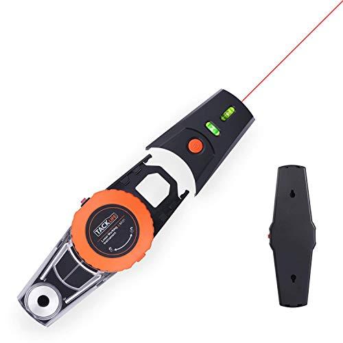 Niveau Laser de Marquage, Tacklife Ligne Laser MI01 9m, Deux Niveau à Bulle, Adsorption Sous Vide, Précision 2mm / m, Fonction de Positionnement avec Boîte à Poussière