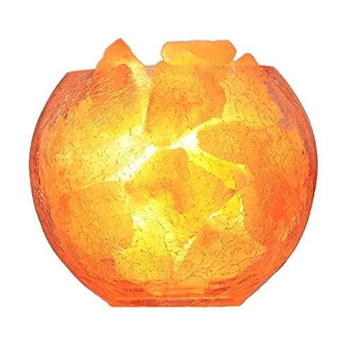 JLKDF Lámparas de Sal, lámpara de Sal de Cristal del Himalaya, Cristal Iones de curación Natural, lámpara de Noche USB para refrescar el Aire, regulador de Intensidad, lámpara de Mesa LE