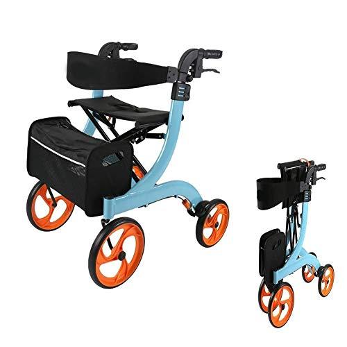 Z-SEAT Rollator-Laufrahmen mit Bremsen und Satz, elegant und faltbar, leichtes Design für einfaches Tragen und Bewegen