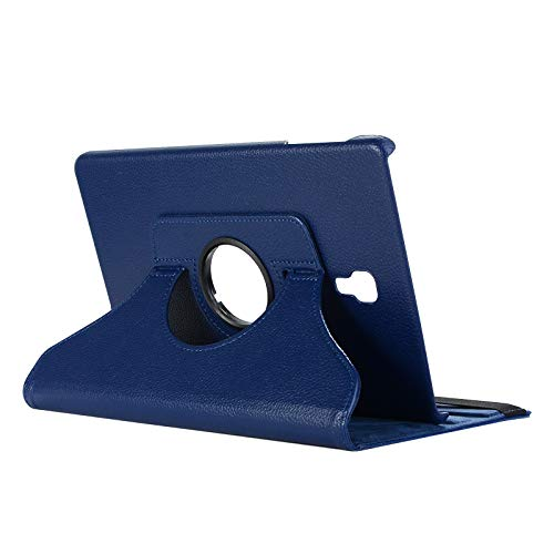Lobwerk Schutzhülle für Samsung Galaxy Tab A SM-T590 T595 10.5 Zoll Hülle Flip Hülle 360° Drehbar + Touch Pen Blau