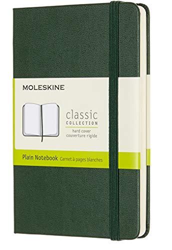 Moleskine Notebook Classic- Copertina Rigida - Taccuino a Pagine Bianche, Pocket, Verde (Mirto)
