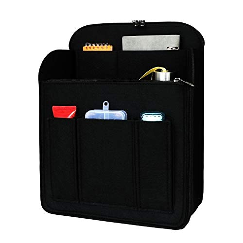 SHINGONE Filz Taschenorganizer Rucksack für Damen, Backpack Organizer mit Schlüsselanhänger, Taschen Organisator Rucksack Organizer Handtaschen Schwarz - M