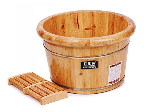 AMYMGLL bain de pieds en cèdre salle de spa puits en bois pots en bois 0,26 m de haut (rond) , 1
