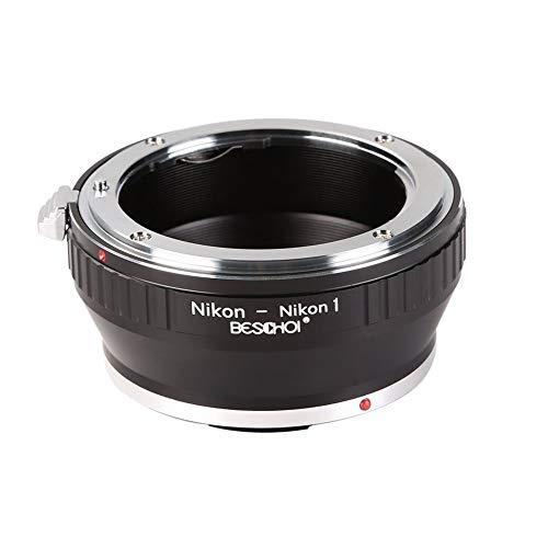 Beschoi - Adaptador Nikon-Nikon1 para Montar Nikon/Nikkor Lente a Nikon 1-Series Cámara,...