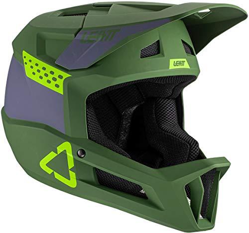 Leatt Casque MTB 1.0 DH Casco de Bici, Unisex Adulto, Verde Fluor, Medium
