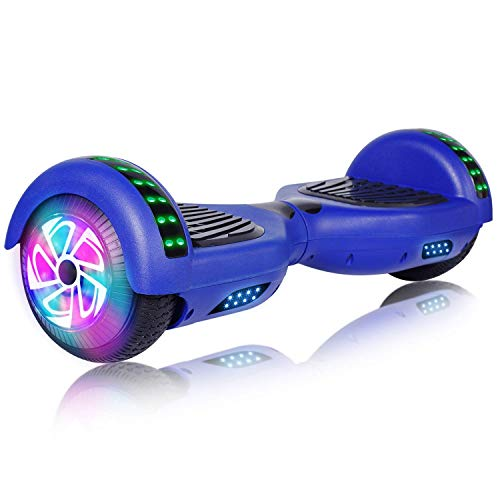 Felimoda Hoverboard, 6.5 Inch self Balancing Hoverboard with LED Light Flashing Wheel for Kids & Adult (Blue)