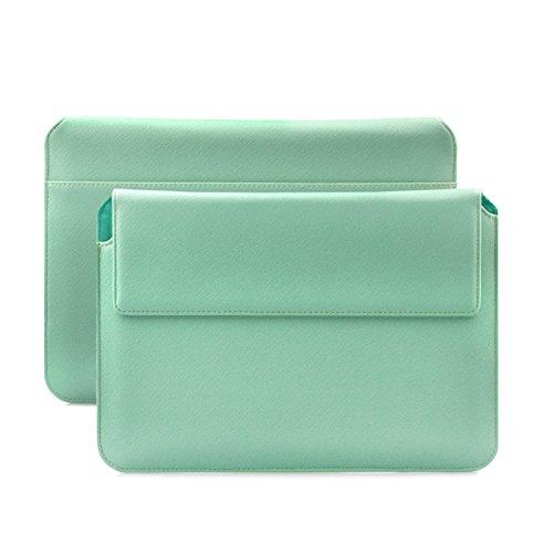 """iCues MacBook Pro & Air 13"""" Tasche   für 11.6 bis 14.0 Zoll Laptops Piquante Etui Hippo Mintgrün   Premium Sleeve Hülle Schutzhülle Case für Notebook und Tablet Leder Cover Schutz"""