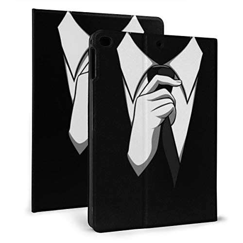 Anonieme pak Case Compatibel met 2018 iPad mini 2017 iPad air1 - Zeer beschermend maar dun + Handige magnetische standaard + slaap-/waakhoes, iPad air1/2 9.7, Zwart