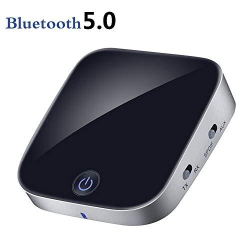 LOVE-HOME Bluetooth AdapterBluetooth 5.0 APT-X zender Bluetooth ontvanger zender 2-In-1 adapter met optische glasvezel / 3.5Mm AUX/SPDIF voor auto TV