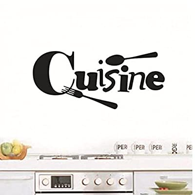 TOSSPER Cuisine Stickers French Wall Stickers Home Decor Wall Decals for Kitchen Decoration Decal Sticker Wall Poster Home Decoration