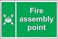 きれいな装飾、火災のアセンブリポイント、警告サインメタルプラークポスター鉄絵アート装飾用バーカフェ&キュートホテルオフィス寝室ガーデン