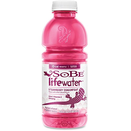 SoBe Lifewater Strawberry Dragonfruit Vitamin Enhanced Water 20 Ounce (12 Botles)