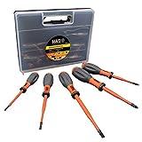 KLEIN TOOLS 32268INS Juego de destornilladores aislados VDE, naranja, Set de 5 Piezas