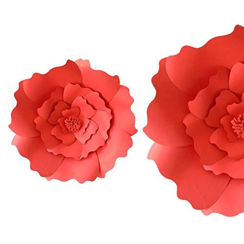 Funihut 30 cm knutselpapier bloem achtergrond decoratie kunstbloem bruiloft verjaardag decoratie voor huis knutselen roze papier bloemen bruiloft handwerk