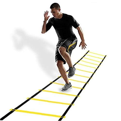Hiinice 12 El Peldaño Escalera De Agilidad Ajustable Escalera De Agilidad De Fútbol Entrenamiento De La Flexibilidad Equipo De Entrenamiento De Velocidad con Bolsa De Herramientas Convenientes