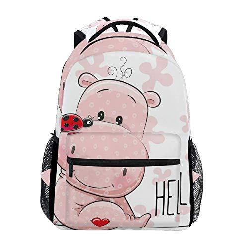 Mochila de la escuela de la universidad mochila de viaje bolsa al aire libre linda dibujos animados