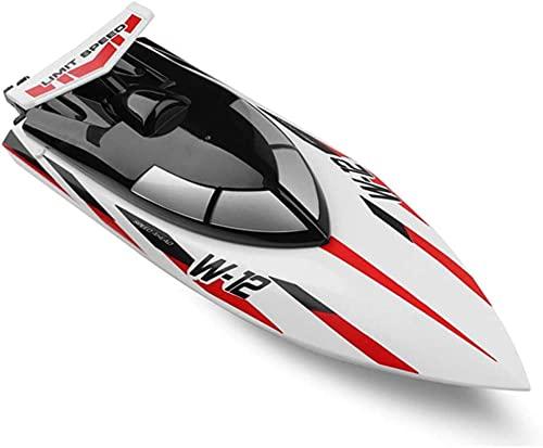 Barca a diretto a distanza 35km / h Barca a remota ad alta velocità 2.4G Ship RC wireless adatta per i giocattoli lago e piscine Auto-rigatura