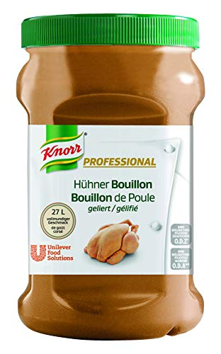 Knorr Professional Bouillon Huhn (geliert, vollmundiger Geschmack, 1 EL Bouillon genügt für 1 L Wasser) 1er Pack (1 x 800g)