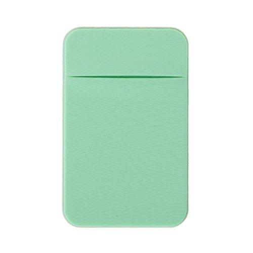 Qiulip Mobiele Telefoon Credit Card Portemonneehouder Pocket Stick-On Lijm Elastisch Gereedschap LGN