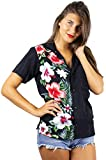 V.H.O. Funky Blusa Hawaiana, Wedding, Black, M