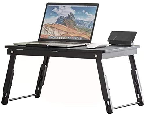 VTAMIN Escritorio de la computadora portátil, escritorio de la computadora de elevación plegable, escritorio de estudio portátil, patas ajustables, para estudio Dormitorio Dormitorio, Tamaño: 54.5x31c