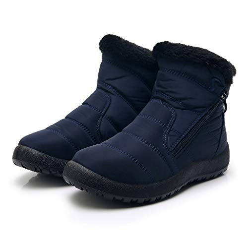 Buy GIFC Fashion Women's Winter Waterproof Martin Short Snow Boots Ladies Footwear Warm Shoes