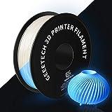 GEEETECH 3D Printer Filament,Luminous PLA Filament 1.75mm,Glow in The Dark Blue 1kg (2.2lbs) 1 Spool