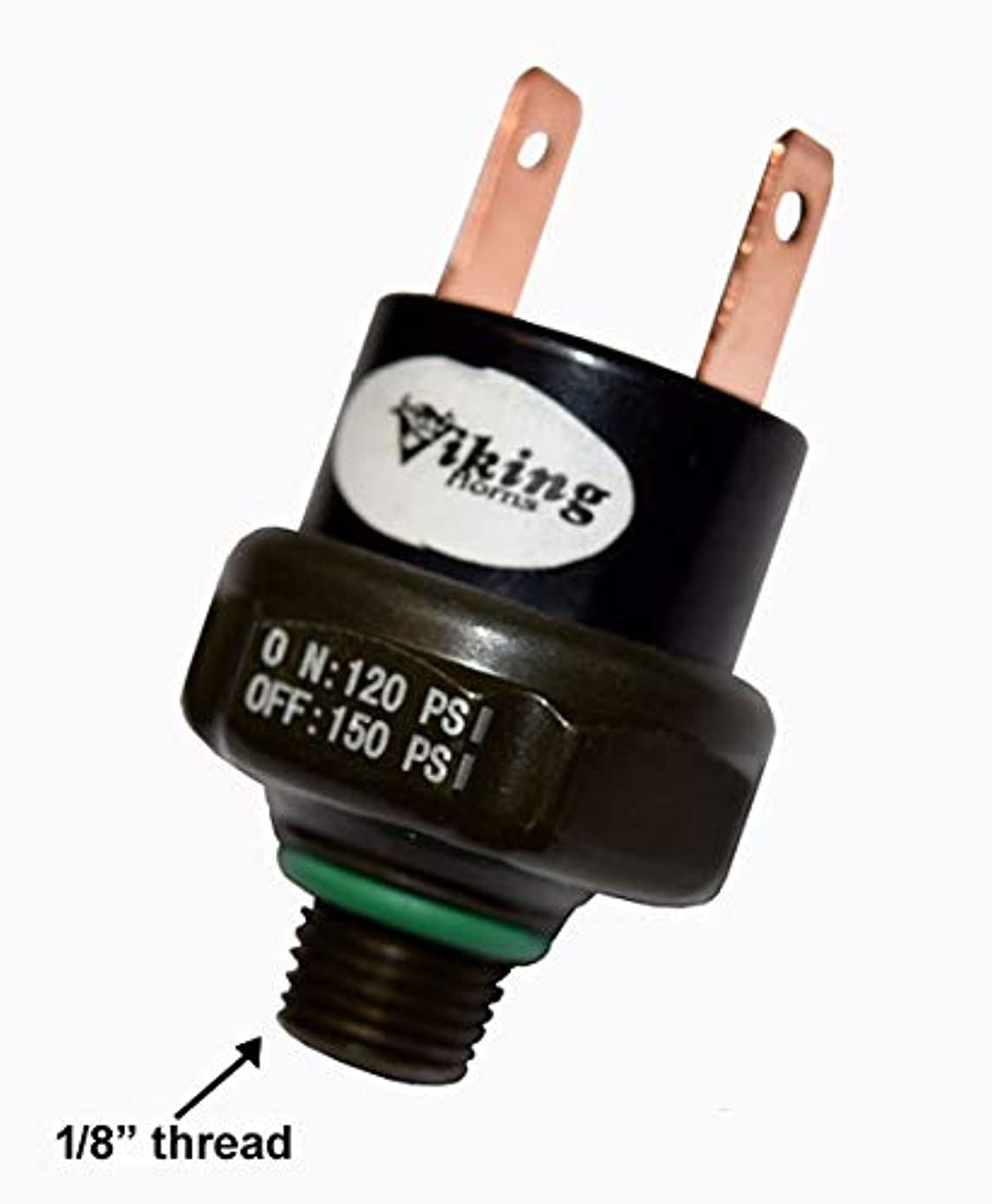 Viking Horns VPS-150PSI air Pressure Switch, Rated 120 PSI on / 150 PSI Off