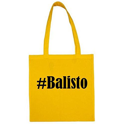 Tasche #Balisto Größe 38x42 Farbe Gelb Druck Schwarz