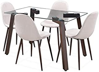 0b2a7979a9b Royaloak Roger Glass 4 Seater Dining Set price in India June 2019 ...