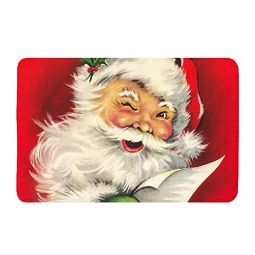 Vxhohdoxs Teppich Antirutsch Fleece Fußmatte Weihnachten gemustert Teppich Türmatte rutschfeste Matte Waschbar Eingang Bodenmatte Badteppich