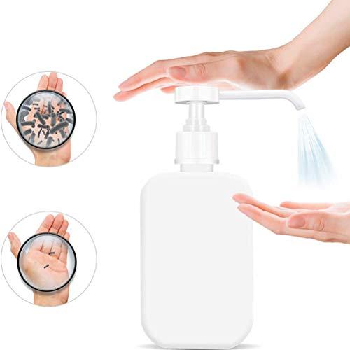 Kylewo 500ML Leere Wasser Sprühflasche,Sterilisierte Hand Desinfektionsmittel Flasche mit Vierkant Lange Düse Pumpe Für Händedesinfektionsmittel, Lotion, Shampoo, Dusche