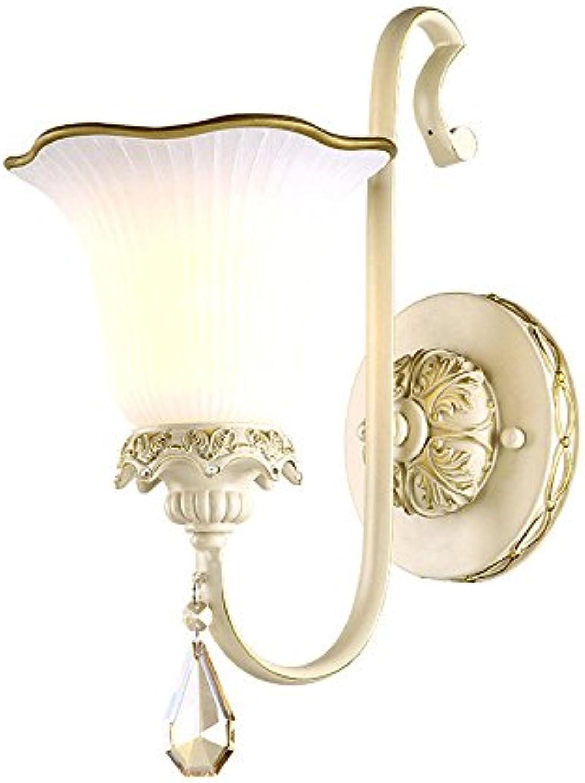 Firsthgus E27 Wandleuchte Nachttischlampe Antik Gang Schlafzimmer Lampe Wohnzimmer Kristall