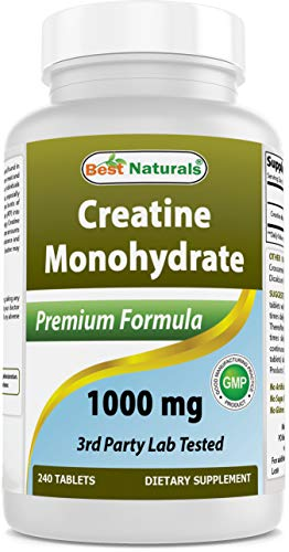 BEST NATURALS Creatine Monohydrate 1000 mg 240 Tablets 002 Pound