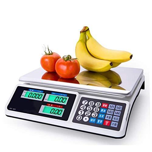 Recargable de frutas adulto Escalas Electrónico Digital Scales supermercado Comercial Electrónico Plataforma 30 kg Precio escala escalas electrónica de sobremesa xuwuhz
